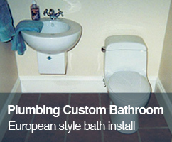 Plumbing Custom Bathroom